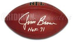 Jim Brown Autographed RARE Wilson Football w HOF 71 Inscription GA