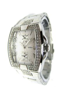 Brand New Guess Women Silver Swarovski Crystals W15055L1 Watch