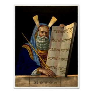 Moses & The Ten Commandments ~ Vintage Art Posters