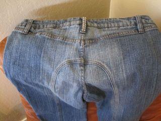 Sodi Light Blue Denim Jeans with Rhinestone Designs Size 9 10