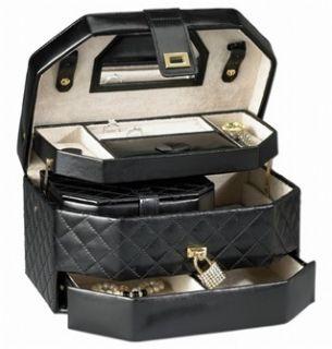 Jewelry Box Travel Case That Locks Bonus Mini Jewel Case
