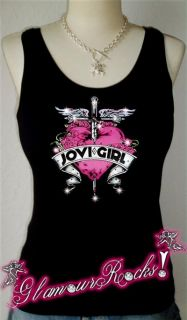 Bon Jovi Girl Pink Heart Rhinestone Shirt Tee Tank Top