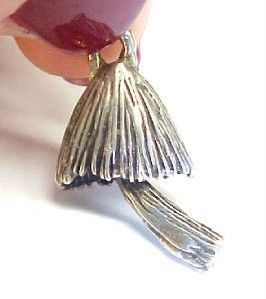 Vintage Sterling Silver Textured Tiki Hut Charm 1 13