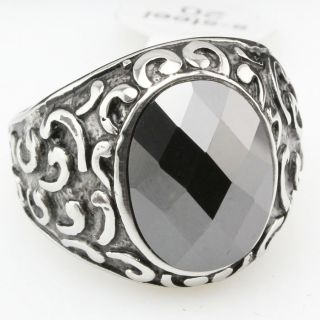 Stone 316L Stainless Steel Rings Jewelry D136 Size 8 9 10 11 5