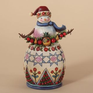 Jim Shore Heartwood Creek Williamsburg Snowman Figurine 4027829 2012