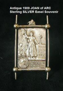 RARE French Antique Sterling Silver Holy St Joan of Arc