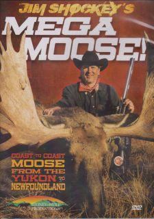 Jim Shockeys Mega Moose Newfoundland Yukon Moose Hunting DVD New