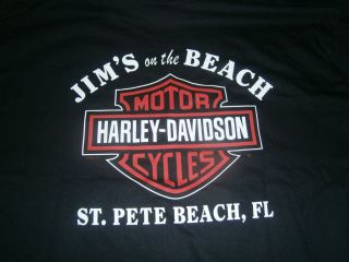 Harley Davidson T Shirt from Jims on The Beach St Pete Beach FL Size