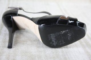 Bennett Sanday Black Patent Leather Sandals Size 39 $325 2012