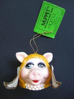 Vintage Miss Piggy Angel Muppet Christmas Ornament Jim Henson