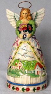 Jim Shore Ceramic Four Seasons Angel Dinner Bell