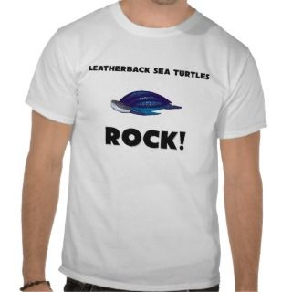 Leatherback Sea Turtles Rock Tees
