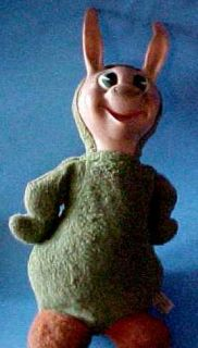 1959 Quick Draw Magraw Babalooey Rubber Faced Stuffed Animal