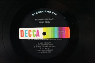 33 LP Record Jimmie Davis His Marvelous Grace Christian