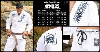 Brand White Sand Kimono A2 Jiu Jitsu Gi White BJJ Gi Jiu Jitsu Uniform