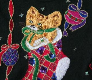 Ugly Christmas Sweater Womens Large Mens Medium Tacky Gaudy Hideous