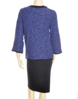 JM Collection Cardigan Womens Blue Sweater Sz PM