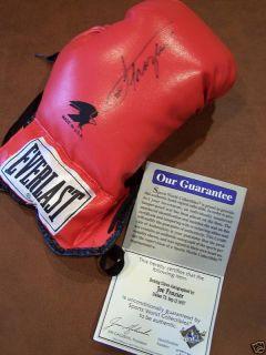 Joe Frazier Signed Auto Boxing Glove Sports World COA