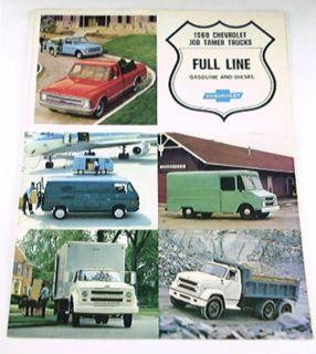 1968 68 Chevrolet Chevy Truck Brochure Pickup Van Tadem