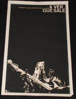 Cuban Movie Poster Plakat Affiche affischJimi Hendrix Guitar