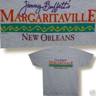 Jimmy Buffett Margaritaville New Orleans Grey T Shirt Large New