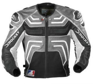 Joe Rocket Supermoto Leather Mesh Jacket New Grey Size 46