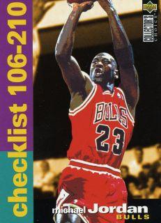 95 96 UPPER DECK COLLECTORS CHOICE MICHAEL JORDAN CHICAGO BULLS MINT