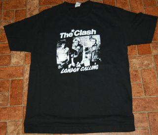 The Clash London Calling T Shirt Joe Strummer Size Large