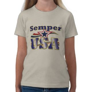 Semper USA Tee America Stars and Stripes T Shirt