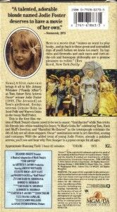 VHS Tom Sawyer Johnny Whittaker Jodie Fostere