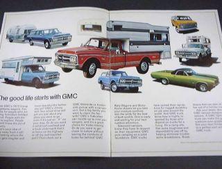 1972 72 GMC Rec Truck Brochure Jimmy Van Pickup Camper