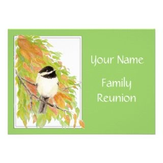 Fall, Family Reunion Invite, Nature, Bird