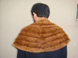 Mink Stone Marten Sable Fox Fur Stole Cape Shawl Collar Shrug Poncho