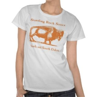 Standing Rock Sioux Tribe brown T shirts