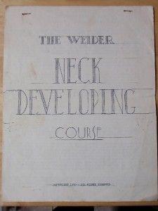 RARE Joe Weider Neck Developing Bodybuilding Workout Muscle Pamphlet
