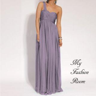 Stunning One Shoulder Cocktail Formal Evening Dress Jodhi NEW sz 12