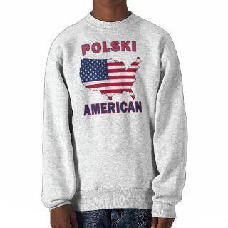 Polski American Map Pullover Sweatshirts