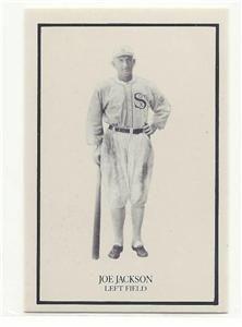 2x3 Shoeless Joe Jackson Small Card Chicago Black Sox Leftfield Full