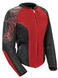 Joe Rocket Ladies Cleo 2 2 Wine Red XS Textile Mesh Motorcycle Jacket