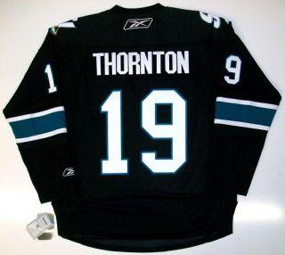 Joe Thornton San Jose Sharks Third Jersey Real RBK