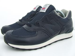 New Balance 576 NVS M576NVS Mens Navy Blue Leather Retro Trainers Made
