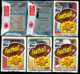 1988 Topps Football 16 Cello Pack Joe Montana R Wax Box
