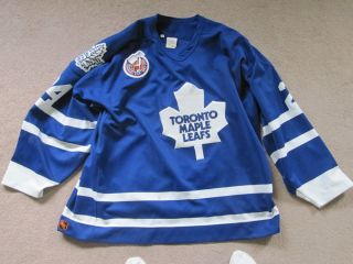 1992 93 Joe Sacco Toronto Maple Leafs Game Worn Jersey with Patch