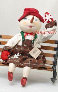Joe Spencer Lolly Snow Girl Gathered Traditions Christmas Figure