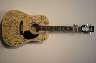 Signed Multi Artist Guitar Autograph Rucker Turner Wicks Currington