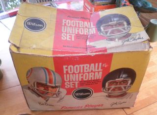 Uniform Set Box Bob Griese Gale Sayers John Brodie 49ers