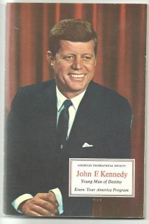 John Kennedy Young Man of Destiny Sticker Stamps 65 BK