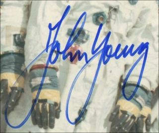 John Young Signed Apollo 10 Crew Picture