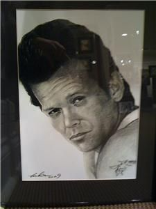 John Cougar Mellencamp Portrait Charcoal Pencil Drawing