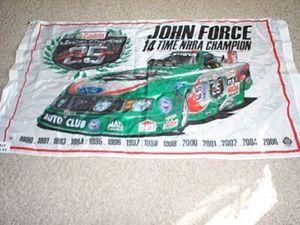 John Force Castrol GTX Ford NHRA Banner